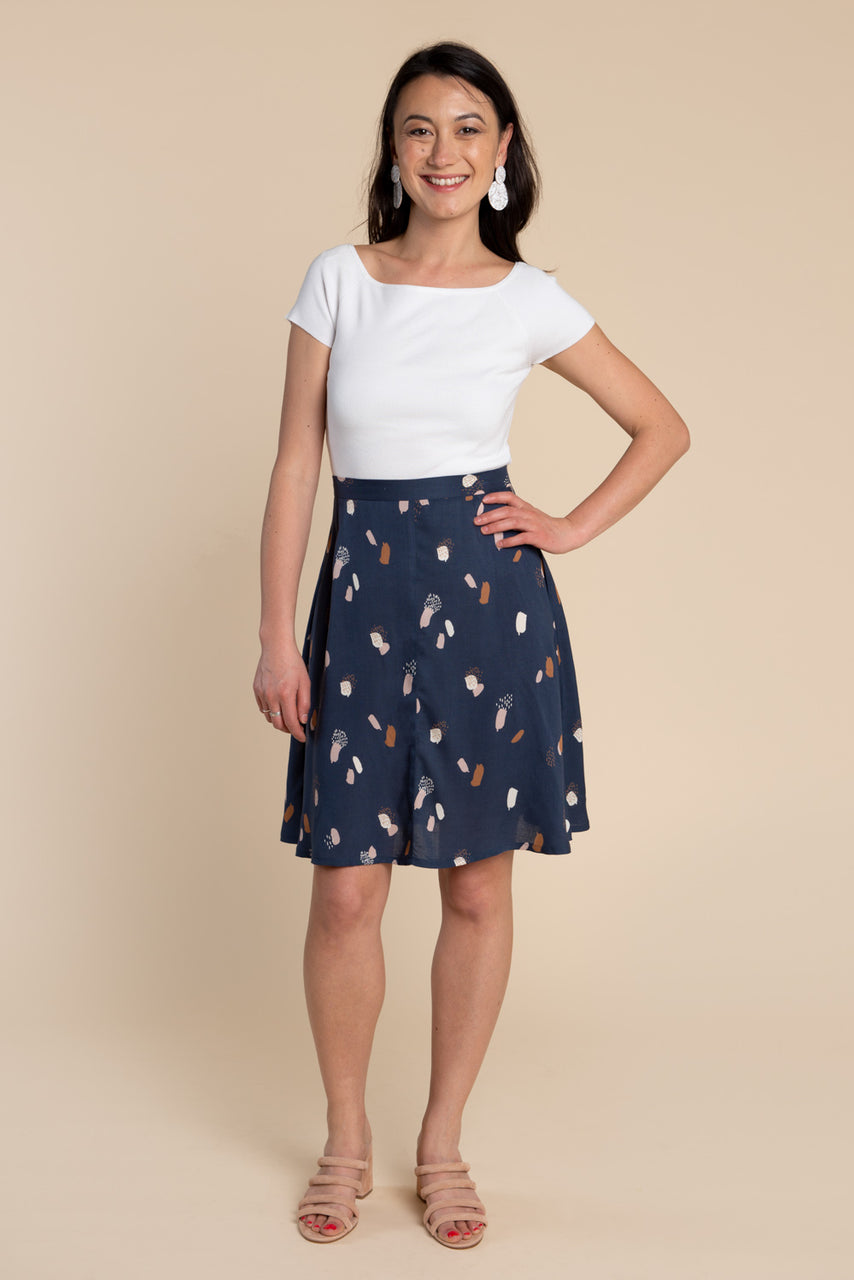 Fiore Skirt Pattern - Flared A-line skirt pattern | Closet Case Patterns