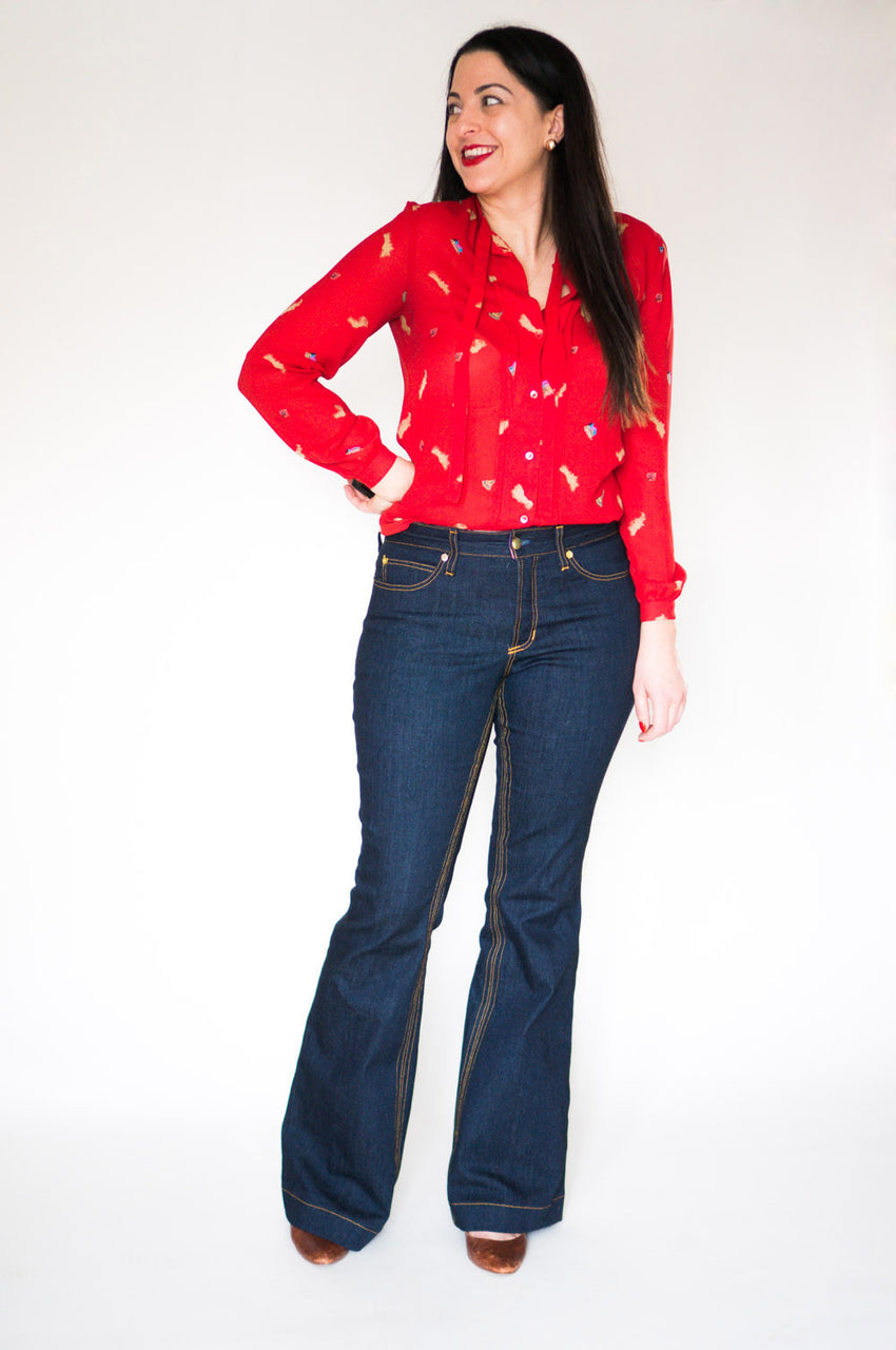 Ginger Flared Jeans pattern // Bootcut jeans pattern // Closet Core Patterns