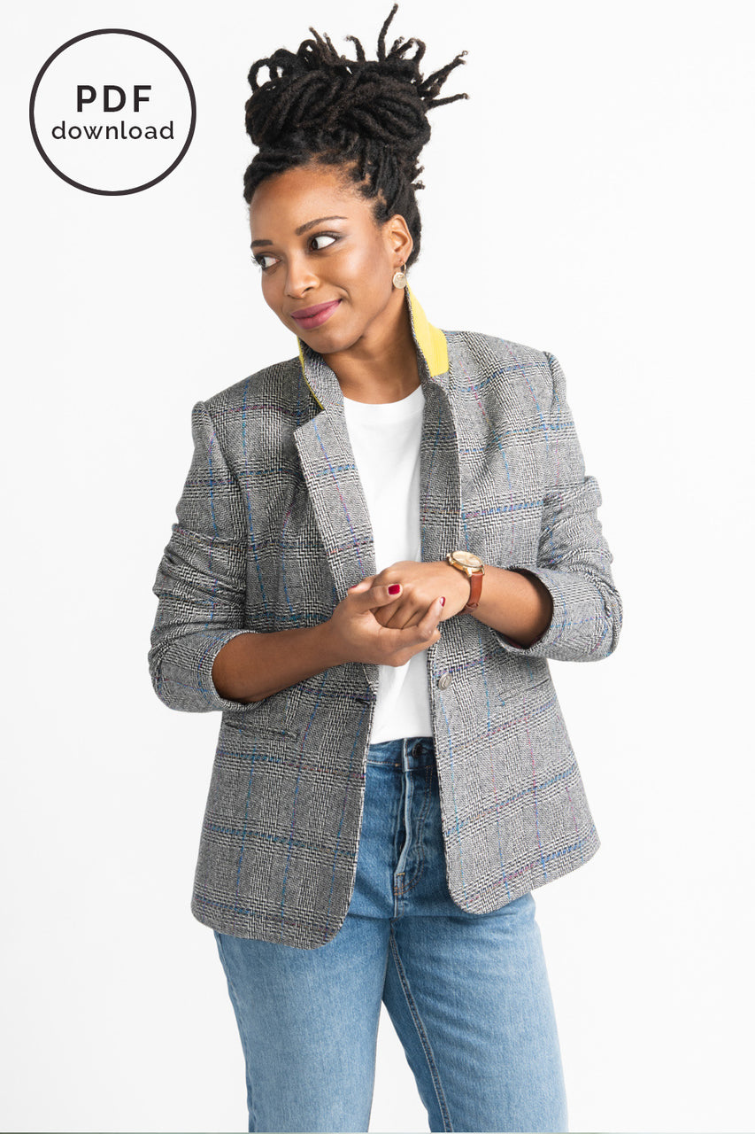 Jasika Blazer Pattern // Tailored Jacket Pattern // Closet Case Patterns