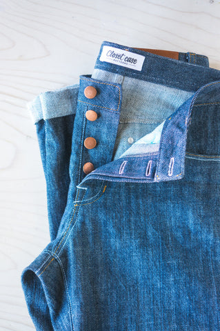 Button fly // Morgan Boyfriend Jeans pattern // by Closet Case Files