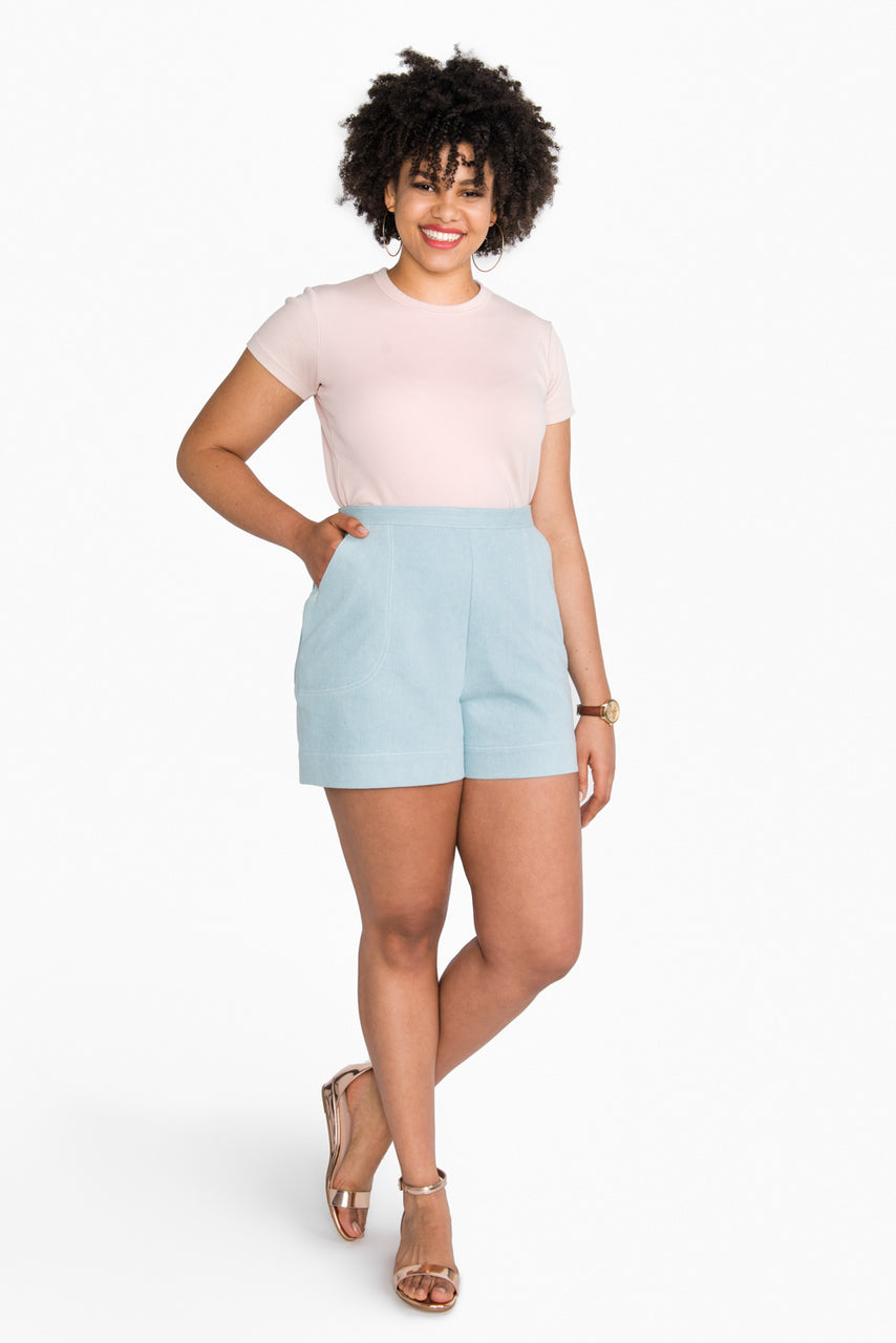 Jenny High-Waisted Shorts Pattern // Closet Core Patterns