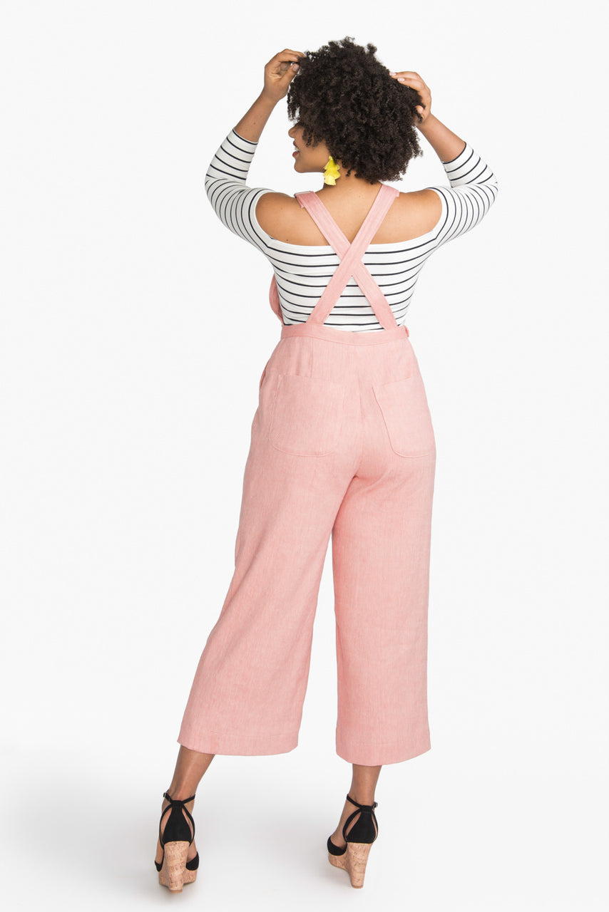 Jenny Overalls Pattern | Dungarees Pattern | Cropped culottes  // from Closet Core Patterns