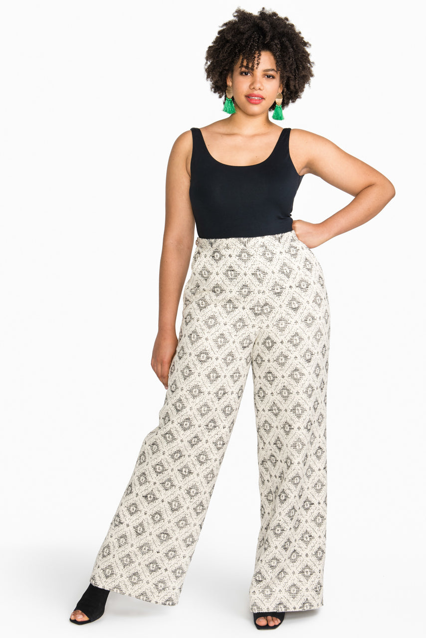 Jenny High-Waisted Wide legged Pants Pattern // Closet Core Patterns