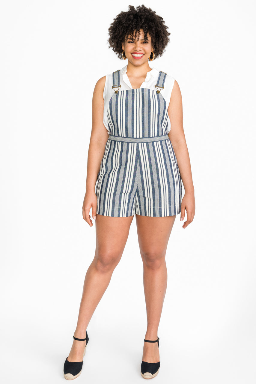 Jenny Overall Shorts Pattern | Dungaree shorts pattern // from Closet Case Patterns
