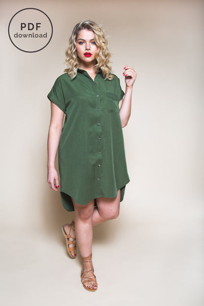 Kalle Shirt-Dress Pattern | PDF Download // Closet Case Patterns