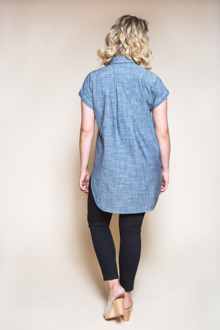 Kalle Button-down Shirt Pattern // Tunic with popover placket // Closet Case Patterns
