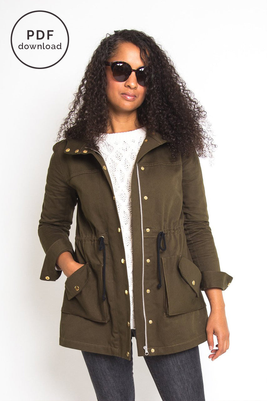 Kelly Anorak Pattern | PDF Download // Closet Core Patterns