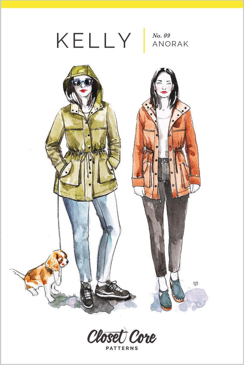 Kelly Anorak // Jacket sewing pattern// Envelope front  // Closet Core Patterns