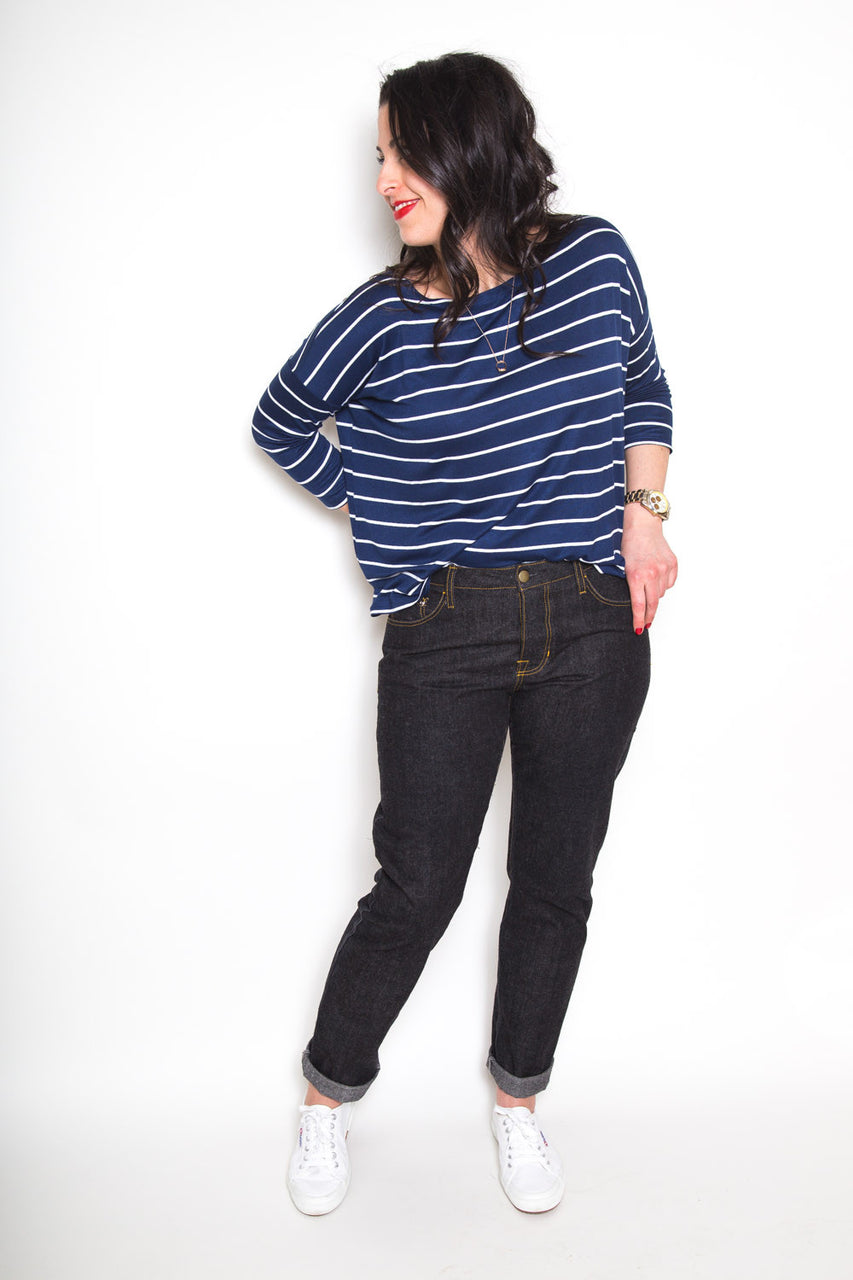 Morgan Boyfriend Jeans pattern // by Closet Core Patterns