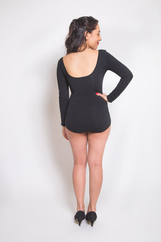Nettie Dress & bodysuit pattern // Back view // Closet Case Patterns