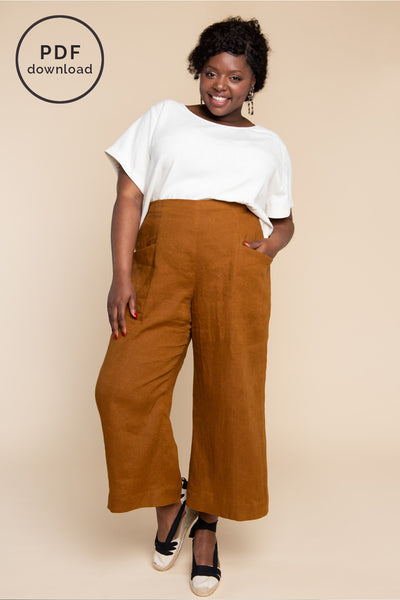 Pietra Pants & Shorts Pattern - Wide legged elastic waist pants pattern | Closet Case Patterns