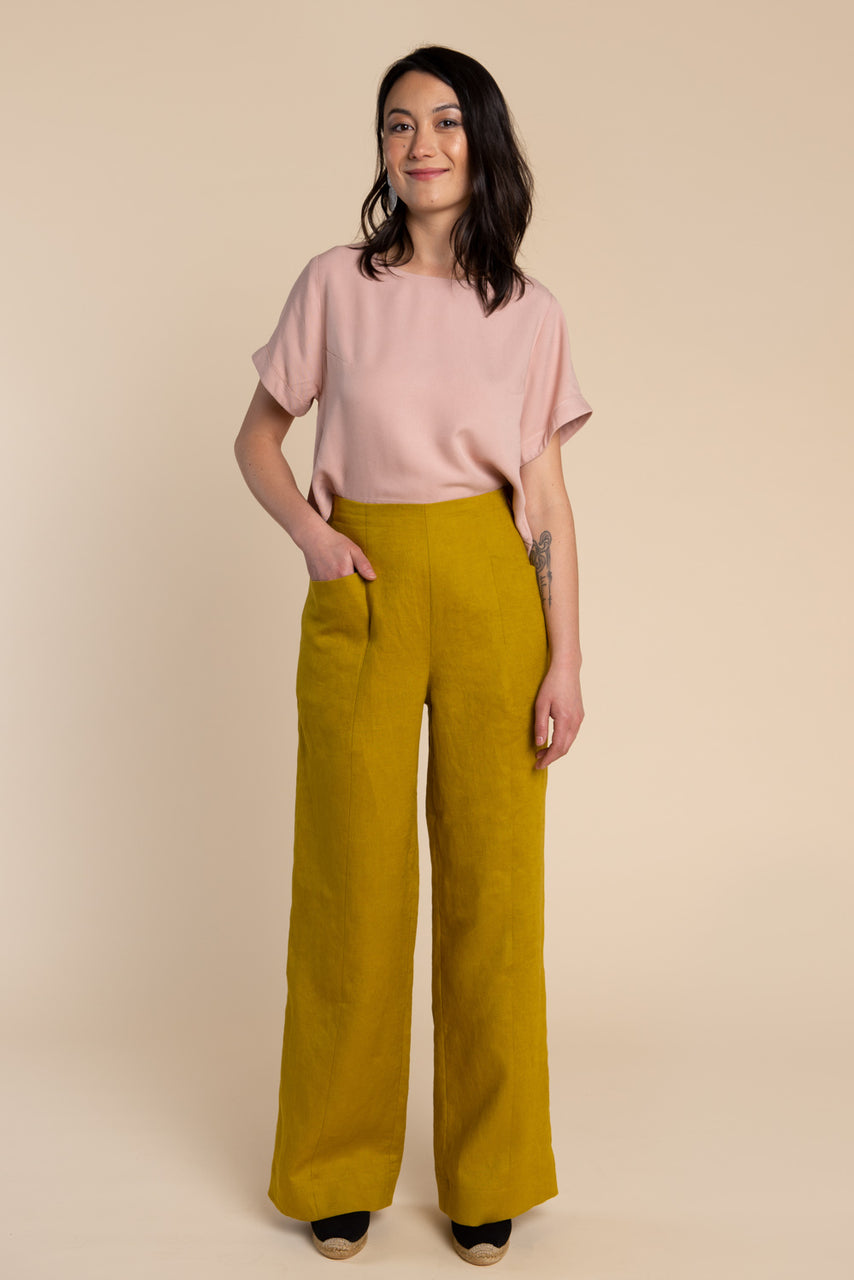 Pietra Pants & Shorts Pattern - Wide legged elastic waist pants pattern | Closet Core Patterns