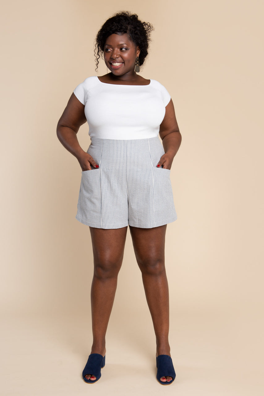 Pietra Pants & Shorts Pattern - Shorts with elastic waist pants sewing pattern | Closet Core Patterns
