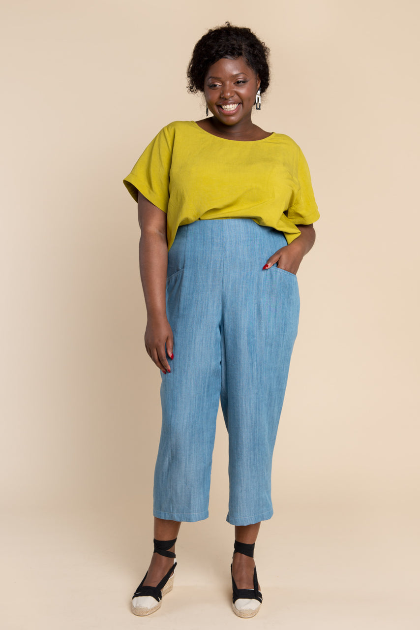 Pietra Pants & Shorts Pattern - Tapered legged elastic waist pants pattern | Closet Case Patterns