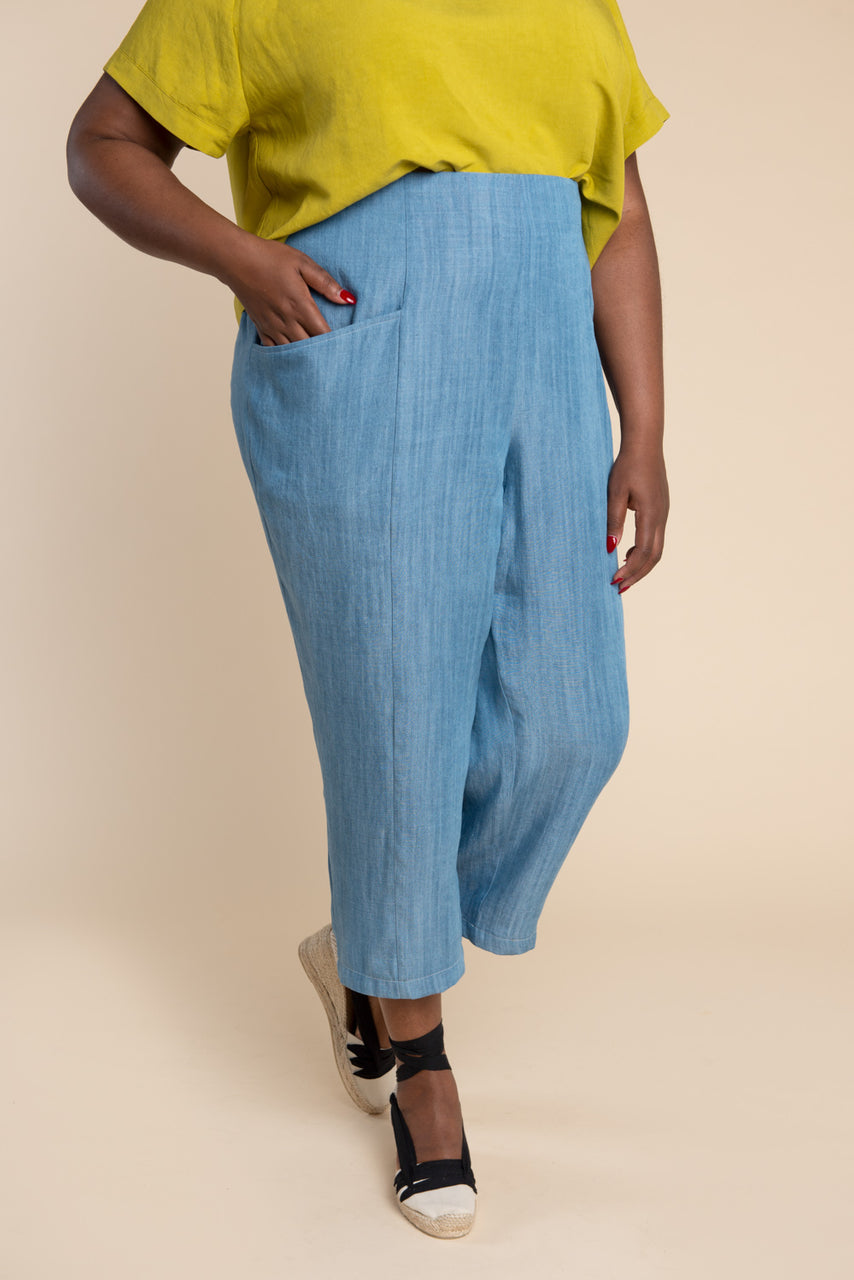 Pietra Pants & Shorts Pattern - Tapered legged elastic waist pants pattern | Closet Core Patterns