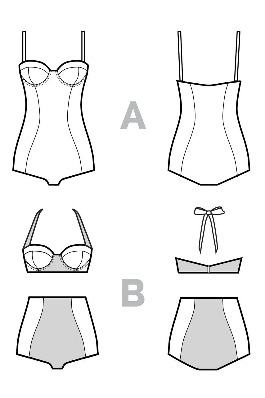 Sophie Swimsuit Pattern - PDF Download