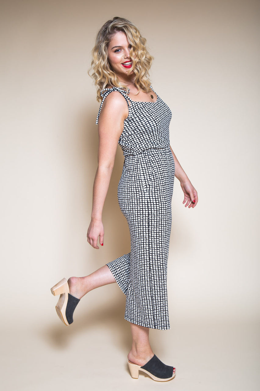 Womens Jumpsuit Pattern // Sallie Jumpsuit Culottes Pattern // Closet Core Patterns