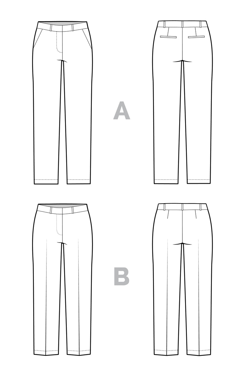 Sasha Trousers Pattern // Stretch Pants Pattern // by Closet Core Patterns