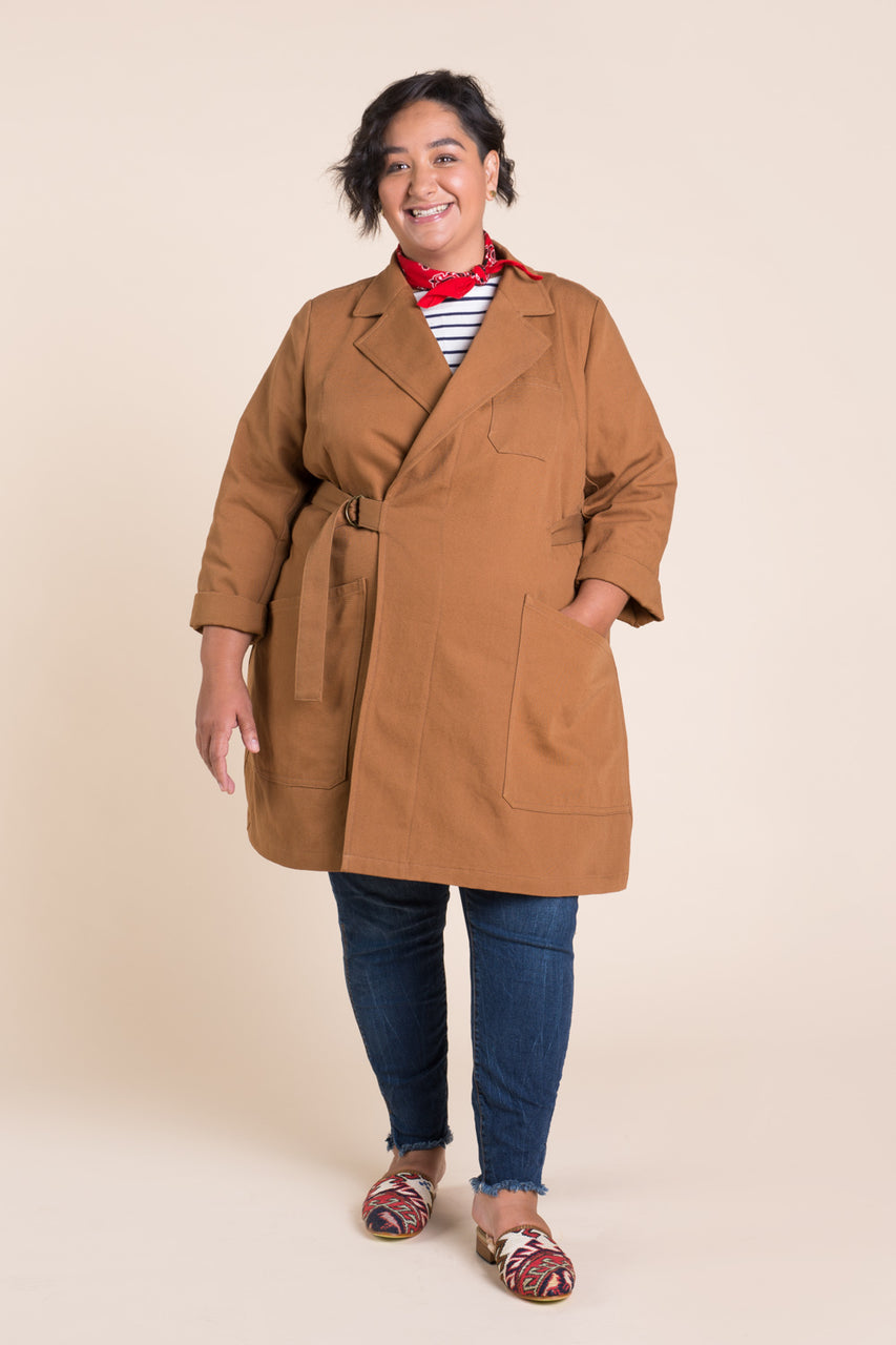 Sienna Maker Jacket Pattern - Full length // Plus size Utility and Chore Jacket Pattern // Closet Core Patterns