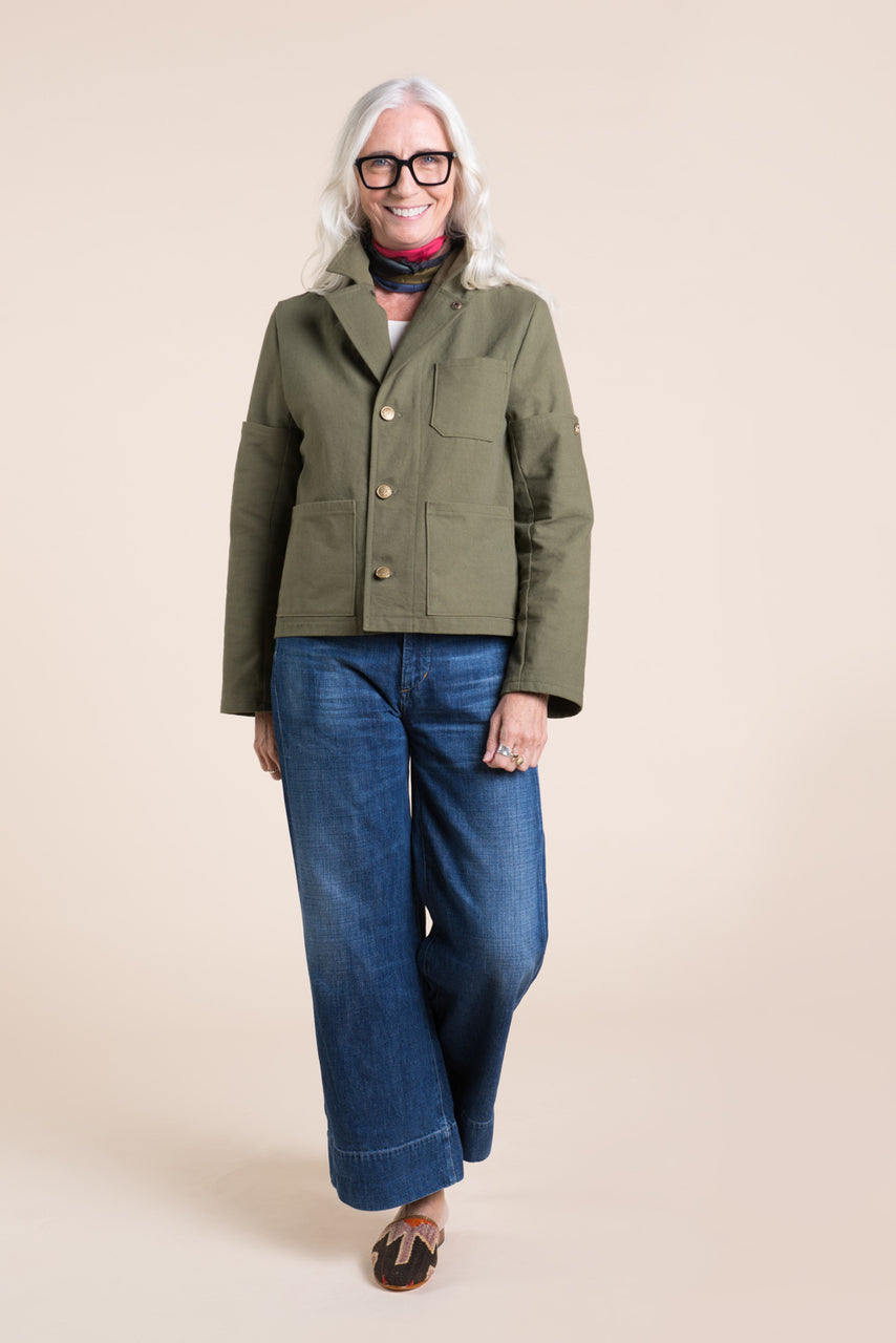 Sienna Maker Jacket Pattern - Cropped // Utility and Chore Jacket Pattern // Closet Core Patterns