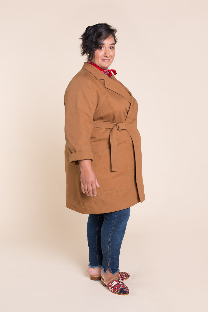 Sienna Maker Jacket Pattern - Full length // Plus size Utility and Chore Jacket Pattern // Closet Case Patterns