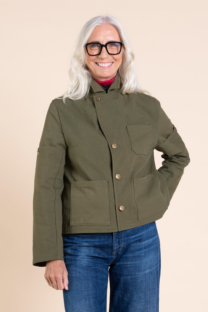 Sienna Maker Jacket Pattern - Cropped // Utility and Chore Jacket Pattern // Closet Case Patterns