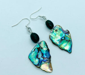 Paua Shell and Afghani Emerald Glass