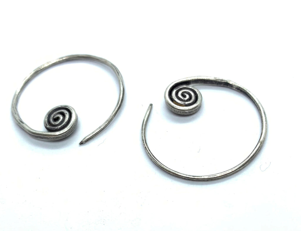 Simple Swirl Hill Tribe Earrings