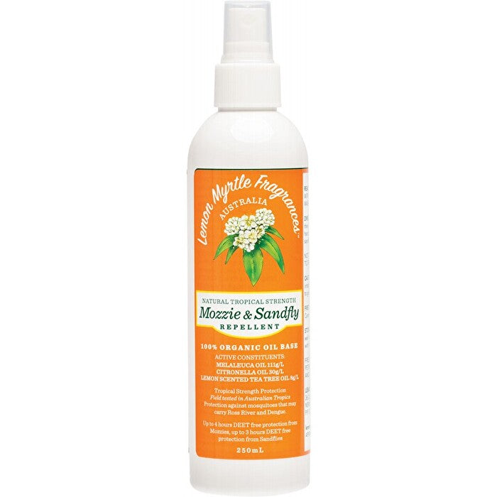 Lemon Myrtle Natural mozzie and sandfly repellent 250 ml
