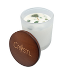 Crystl Candle 'Luck' - Sweet Orange & Cassis, Aventurine