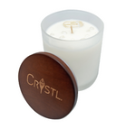 Crystl Candle 'Healing' - Camellia & Lotus, Clear Quartz