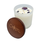 Crystl Candle 'Balance' - Coconut & Vanilla with Ametrine