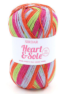 SIRDAR HEART & SOLE 4PLY