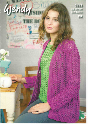KNITTING PATTERN Ladies Sleeveless Tunic or Jumper Chunky Wendy 5907