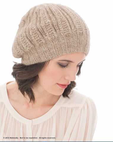 NATURALLY LEAFLET COZY HAT DIGITAL DOWNLOAD