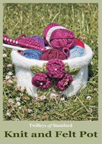 TWILLEYS LEAFLET KNIT AND FELT POT DIGITAL DOWNLOAD