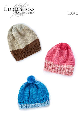 FIDDLESTICKS CAKE LEAFLET TX580 FAMILY BEANIES