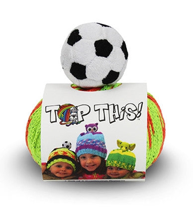 DMC TOP THIS YARN HAT SOCCER BALL