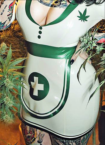Nurse Mary Jane Latex Apron