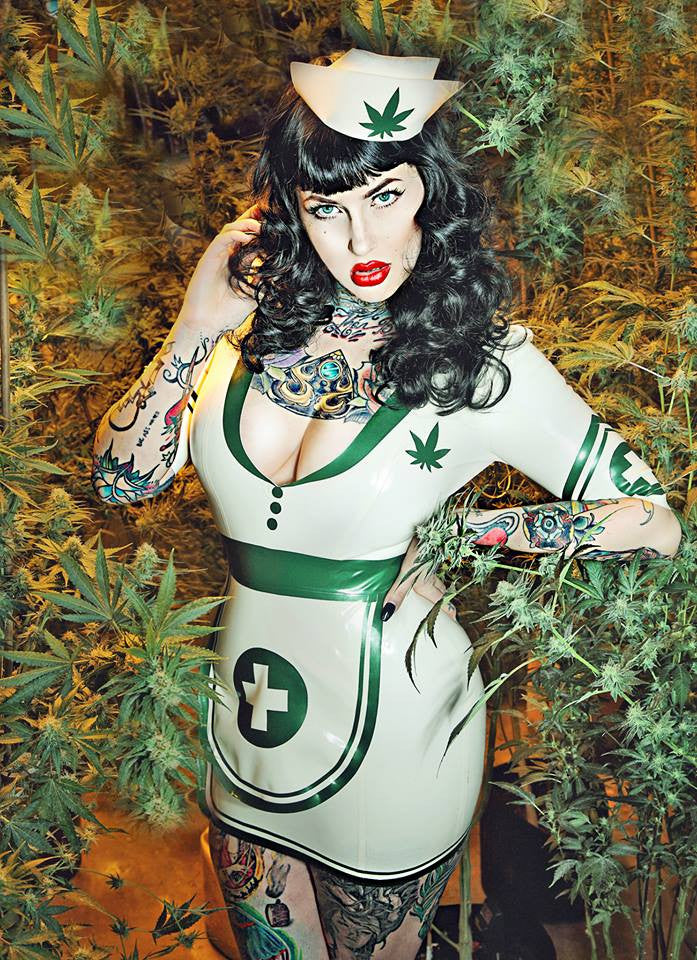 Nurse Mary Jane Latex Hat