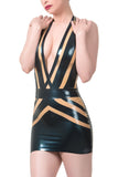 Interlaced Latex Mini Dress