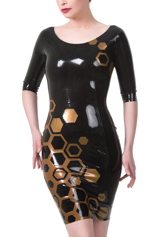 Queen Bee Latex Pencil Dress