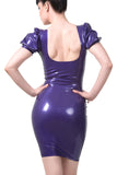 Puff Sleeve Sweetheart Latex Dress