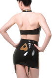 Ouija Board Latex Girdle and Halter Set