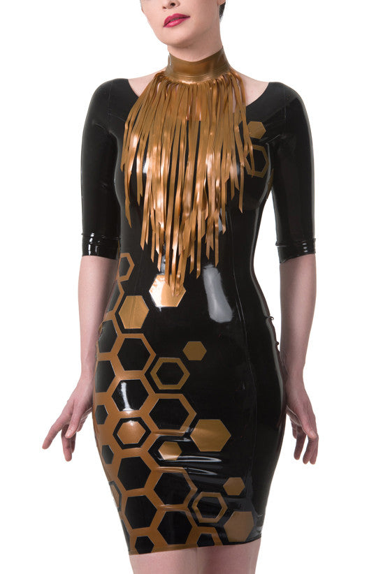 Fringe Latex Collar