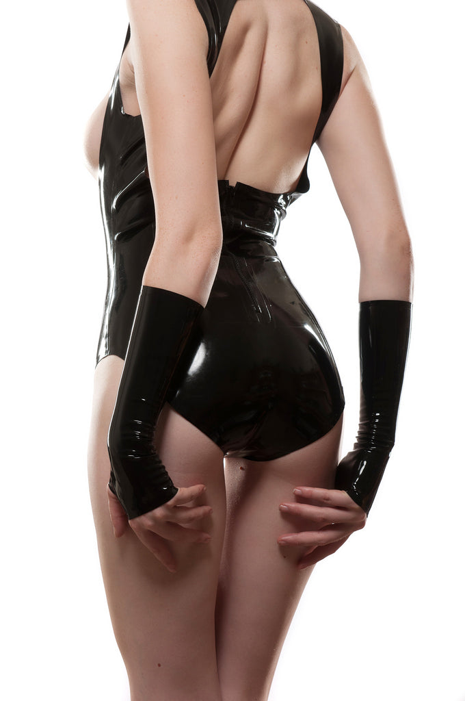 Underbust Harness Latex Bodysuit