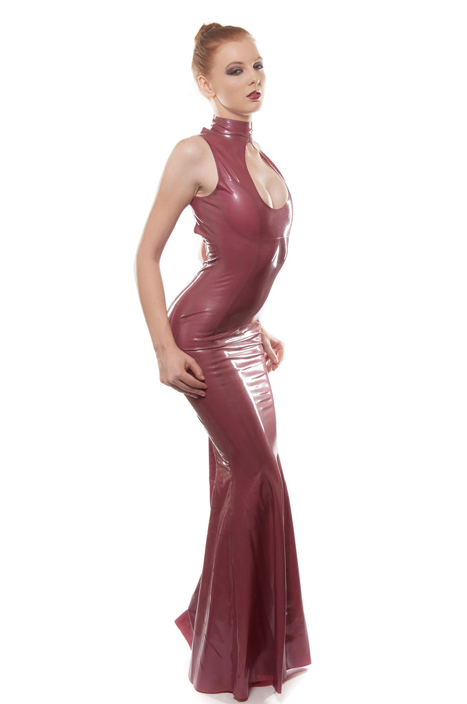 Keyhole Latex Gown