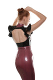 Underbust Latex Harness with Flare Sleeves