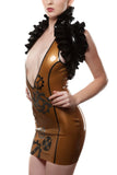 Geared Up Latex Plunge Mini