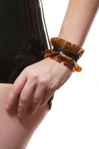 Ruffled Latex Cuffs